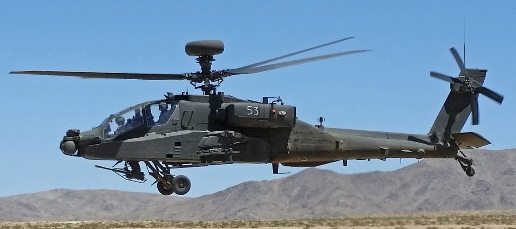 Photo of sample military helicopter by US Army [public domain] via Wikimedia Common