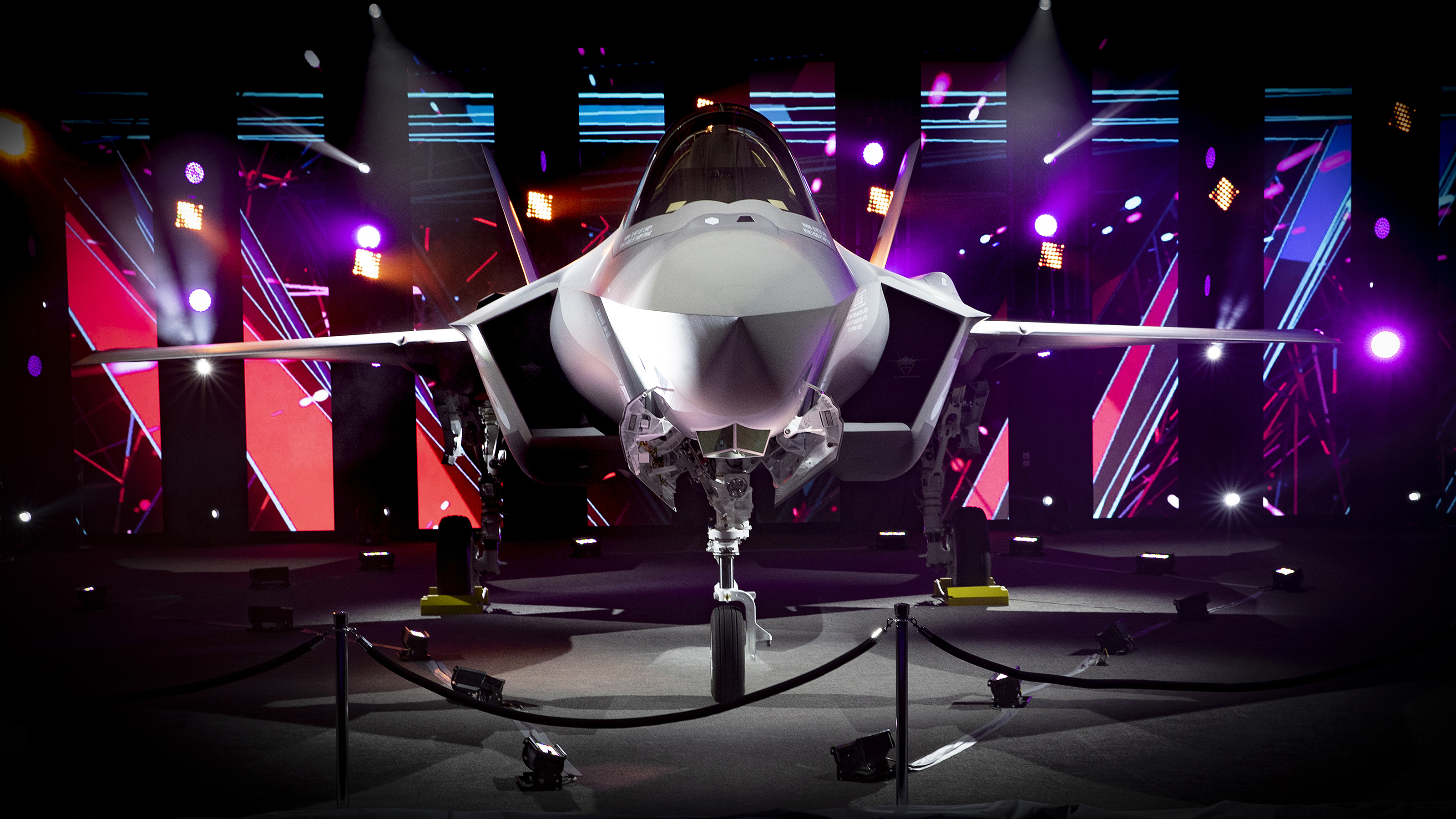 Photo Caption 1: The Netherlands' first operational F-35 unveiled at the roll out ceremony at Lockheed Martin's facility in Fort Worth, Texas
